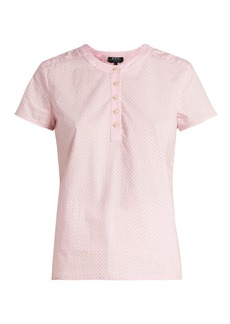 A.P.C. Philippine short-sleeved cotton blouse