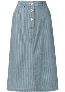A.P.C. pinstriped skirt - Blue