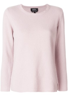 A.P.C. plain sweatshirt - Pink & Purple