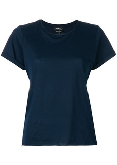 A.P.C. plain T-shirt - Blue