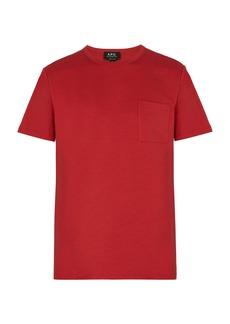 A.P.C. Pocket crew-neck cotton T-shirt