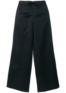 A.P.C. polka dot wide leg trousers - Black