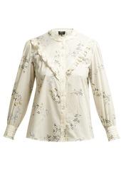 A.P.C. Polly floral-print cotton-poplin blouse