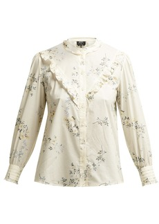 A.P.C. Polly floral-print cotton-poplin blouse