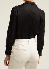 A.P.C. Polly ruffled cotton-poplin blouse
