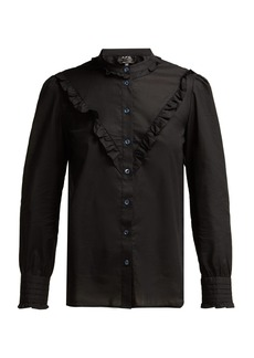 A.P.C. Polly ruffled cotton-poplin blouse