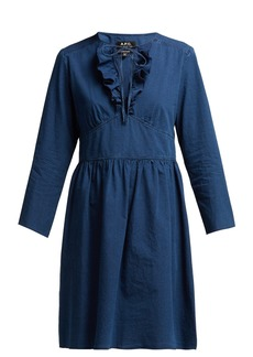 A.P.C. Poppy cotton-chambray dress