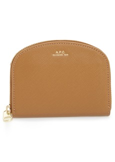 A.P.C. Porte Monnaie Demilune Leather Wallet