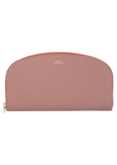 A.P.C. Portefeuille Demilune Leather Wallet