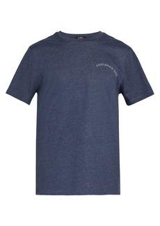 A.P.C. Print cotton-blend t-shirt