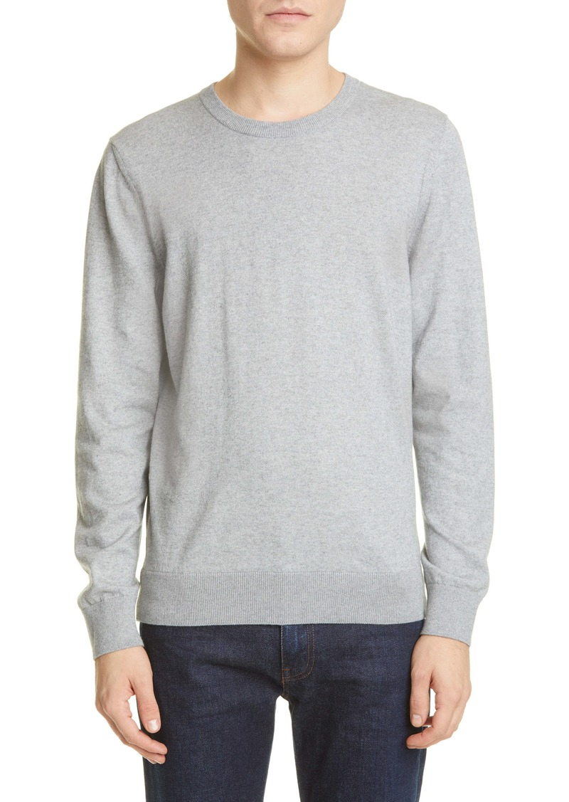 A.P.C. Pull Julien Solid Crewneck Sweater
