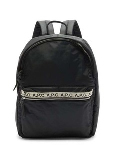 A.P.C. Repeat logo-trim padded-nylon backpack