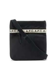 A.P.C. Repeat logo-trim padded-nylon cross-body bag