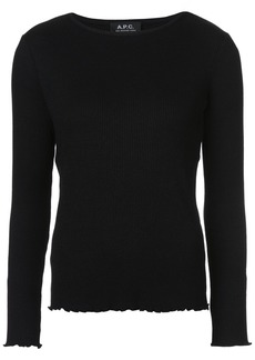 A.P.C. ribbed top - Black
