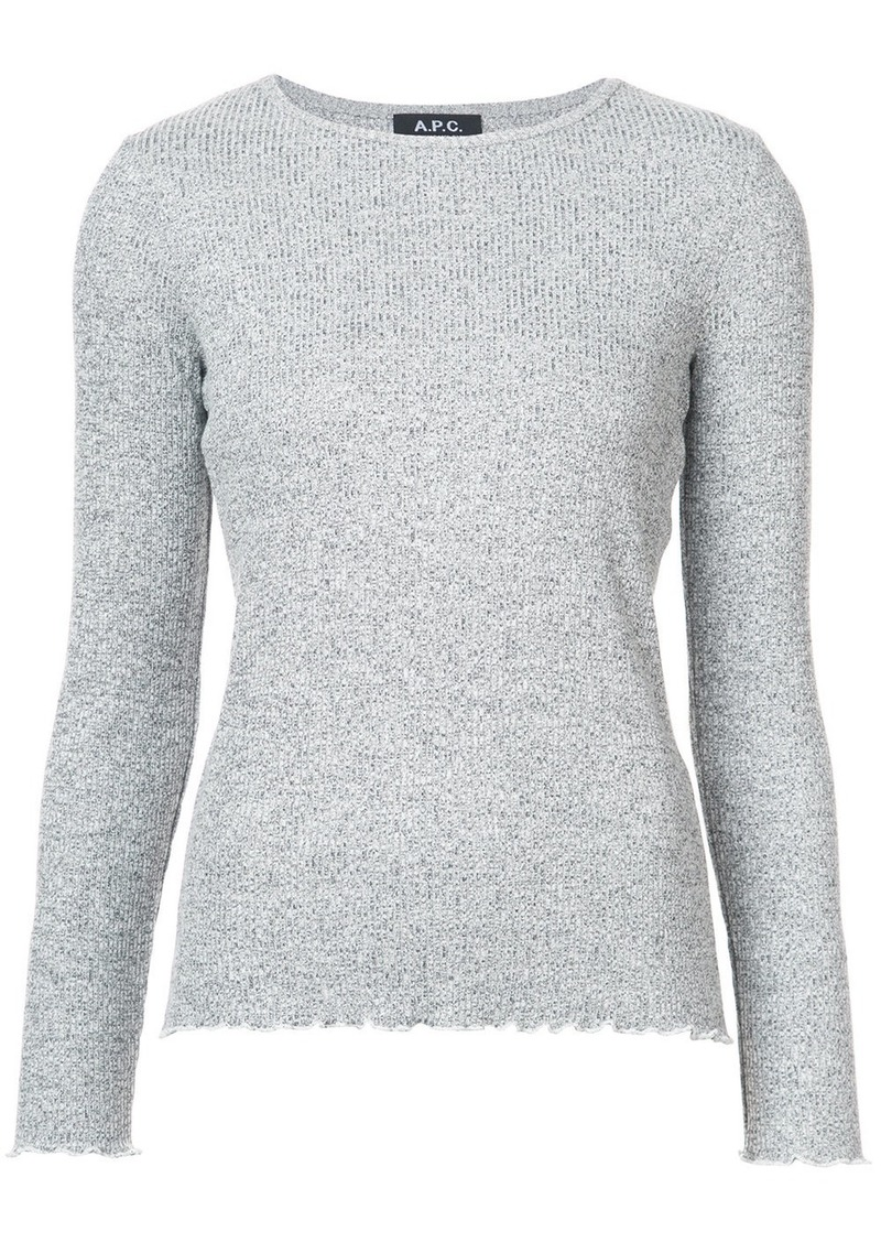 A.P.C. ribbed top - Grey