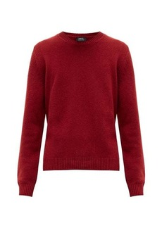 A.P.C. Ribbed-trim wool sweater