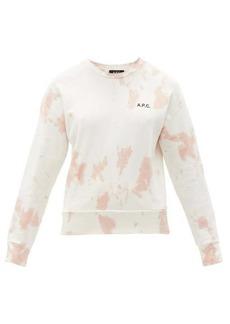 A.P.C. Rick tie-dye cotton-jersey sweatshirt