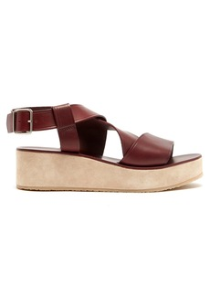 A.P.C. Rita leather and suede flatform sandals