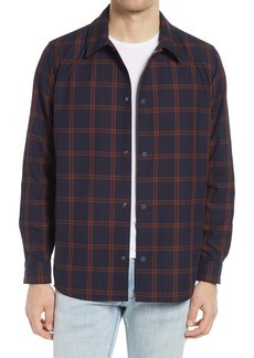 A.P.C. Rodney Mesh Lined Plaid Shirt Jacket