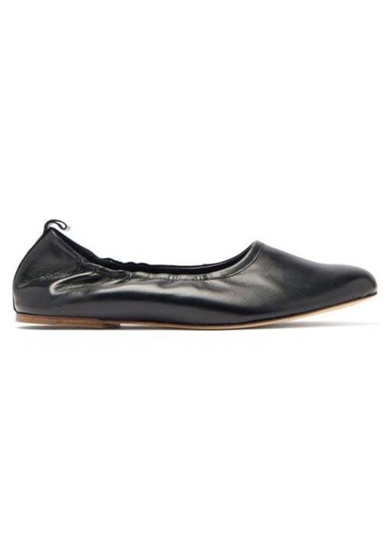 A.P.C. Rosa elasticated leather ballet flats