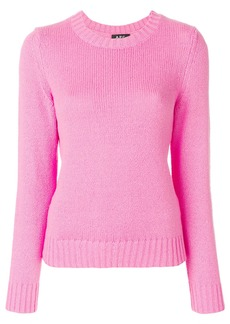 A.P.C. round neck sweater - Pink & Purple
