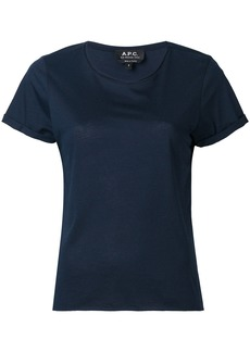 A.P.C. round neck T-shirt - Blue
