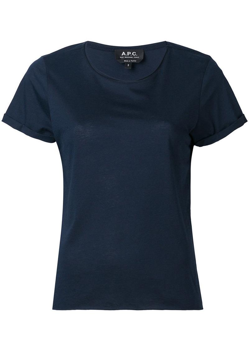 A.P.C. round neck T-shirt - Blue