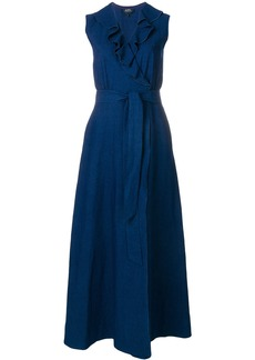 A.P.C. ruffled maxi dress - Blue