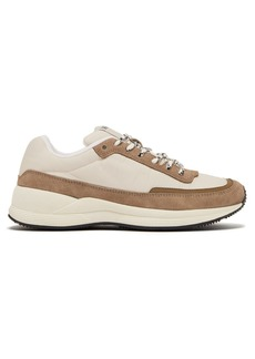 A.P.C. Running suede-panel shell trainers