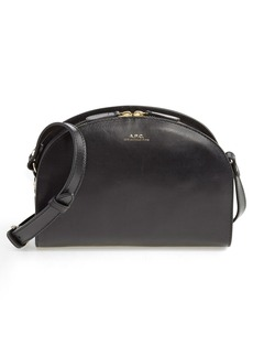 A.P.C. 'Sac Demi Lune' Leather Crossbody Bag