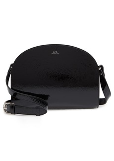 A.P.C. Sac Demilune Leather Crossbody Bag