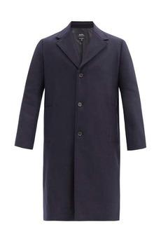 A.P.C. Sacha single-breasted wool-blend felt coat