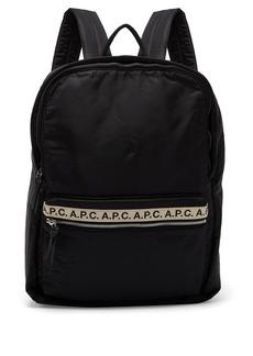 A.P.C. Sadie logo-ribbon nylon backpack