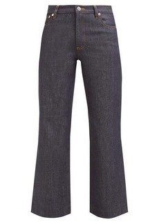 A.P.C. Sailor cropped raw-denim jeans