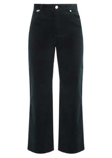 A.P.C. Sailor high-rise cropped corduroy trousers