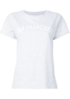 A.P.C. San Francisco print T-shirt - Grey