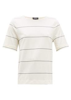 A.P.C. Sara striped cotton T-shirt