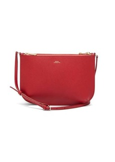 A.P.C. Sarah saffiano-leather cross-body bag