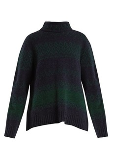 A.P.C. Saskia funnel-neck Fair-Isle wool-blend sweater