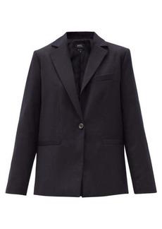 A.P.C. Savannah single-breasted wool blazer