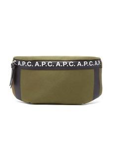 A.P.C. Savile logo-stripe canvas belt bag
