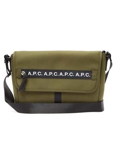 A.P.C. Saville logo-stripe canvas messenger bag