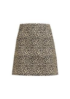 A.P.C. Shanya leopard-print mini skirt