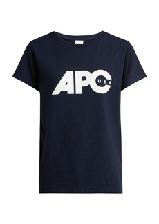 A.P.C. Sheena U.S. printed-logo cotton T-shirt