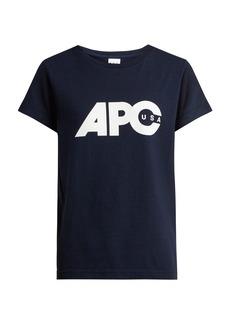 A.P.C. Sheena U.S. printed-logo cotton T-shirt
