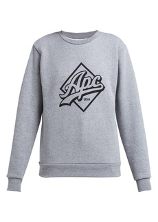 A.P.C. Sherman logo-print cotton sweatshirt