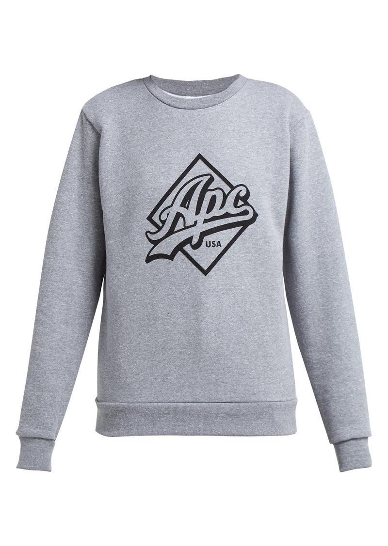 A.P.C. Sherman logo-print cotton sweatshirt