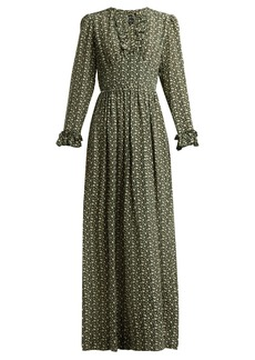 A.P.C. Sina printed silk-crepe maxi dress