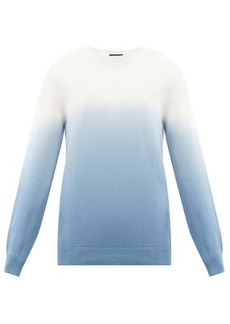 A.P.C. Skyline ombré tie-dye cotton sweater