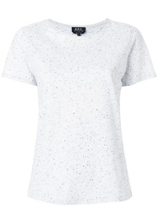 A.P.C. speckle finish T-shirt - Grey